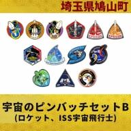 宇宙のピンバッチセットB(ロケット、ISS宇宙飛行士)