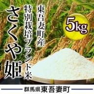 東吾妻町産 特別栽培ブランド米 さくや姫 5kg