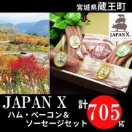 JAPAN X ハム・ベーコン&ソーセージセット/計705g