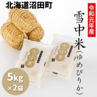 【1016-01】令和元年産 雪中米(ゆめぴりか)【5kg×2袋計10kg】