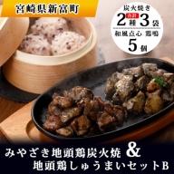 みやざき地頭鶏炭火焼&地頭鶏しゅうまいセットB【C181】