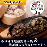 みやざき地頭鶏炭火焼&地頭鶏しゅうまいセットA【B351】
