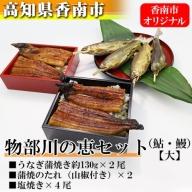 ★香南市オリジナル 物部川の恵(鮎・鰻)セット【大】 E-35