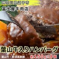 【冨士屋牛肉店】葉山牛入りハンバーグ(8個入)