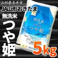 A066【無洗米】JA山形おきたま「つや姫」5kg