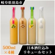 A010 日本酒仕込みリキュールセット