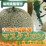 【A-401】青果市場厳選 マスクメロン(温室・特大サイズ1玉)