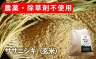 農薬・除草剤不使用で栽培したササニシキ「郷山のお米 2kg」(玄米)