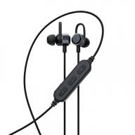 やわらかフックで耳に固定 Bluetooth5 ワイヤレス ステレオイヤホン マグネット付 (ブラック) OWL-BTEP06S-BK