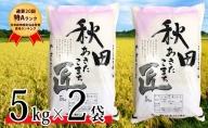 【 早期受付 令和3年産 】農家直送 8年連続「特A」ランク 秋田県 仙北市産米 あきたこまち 5kg×2袋(合計:10kg)2021年10月から発送開始