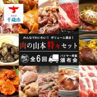 ☆お肉の頒布会<全6回>☆みんなでわいわい!ボリューム満点!肉の山本特々セット