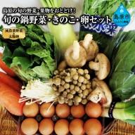 AE235島原の旬の野菜・果物をおとどけ!旬の鍋野菜・きのこ・卵セット