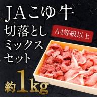 宮崎黒毛和牛<JAこゆ牛>切り落としミックスセット1kg ※90日以内に出荷【B30】