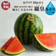 AE168超特大!大玉スイカ~羅皇(ラオウ)~(4Lサイズ10kg以上)