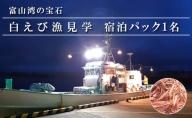 富山湾の宝石 白えび漁見学 宿泊パック(第一イン新湊)1名