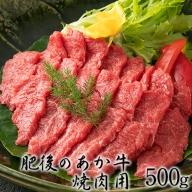 肥後のあか牛焼肉用500g 御船屋 熊本県御船町《2月中旬-3月末頃より順次出荷》