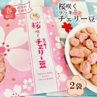 AE268【春限定】頑張れ受験生!桜咲くラッキーチェリー豆(85g) 2袋