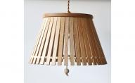 【YARN】ウッドビーズシリーズ スリットからこぼれる光が美しいランプ【L】