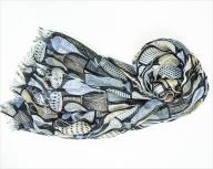天然素材ストール専門店muto シルク×カシミアストール スティグ・リンドベリ「ポテリー」マルチカラー(男女兼用)