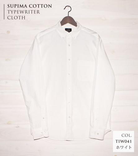 播州織メンズタイプライターシャツ「THE INDUSTRY WORKS」(1着)【TIW_041(ホワイト)】 | au PAY ふるさと納税