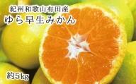 紀州和歌山有田産ゆら早生みかん 5kg※2021年10月上旬より順次発送(お届け日指定不可)