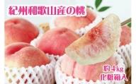 紀州和歌山産の桃 約4kg 化粧箱入※2021年6月中旬より順次発送(お届け日指定不可)