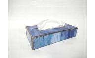 ステンドグラスのボックスティッシュケース(高さ5cm)