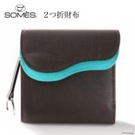 SOMES SA-04 2つ折財布(ダークブラウン)