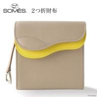 SOMES SA-04 2つ折財布(グレージュ)