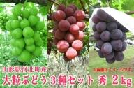 K-00121 山形県河北町産大粒ぶどう3種セット2kg