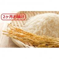 【定期便】広島県安芸高田市産コシヒカリ 精米8kg 2ヶ月お届け