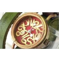 HR24の手造り時計B(女性用)オリーブ