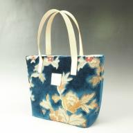 伝統の技が息づく逸品! 金華山織り トートバッグ ブルー