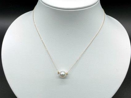 【CJ-1】あこや本真珠8ミリ珠&ミラーボールの「スルーペンダント」(ゴールド) | au PAY ふるさと納税