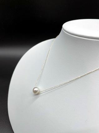 【CJ-3】あこや本真珠8ミリ珠の「スルーペンダント」(ゴールド) | au PAY ふるさと納税
