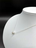 【CJ-3】あこや本真珠8ミリ珠の「スルーペンダント」(ゴールド)