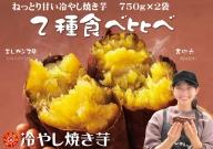 焼き芋 蜜たっぷり!冷やし焼き芋 ひえひえ君 食べ比べ 1.5kg エレガンス葵&紅天使 H047-010