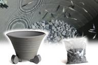 三河焼の職人が作るめだか鉢(めだかの池 手造り 10号 いぶし) H100-025