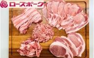 D1256 小分けで便利!茨城県産ローズポーク5種セット250g×5パック(合計1.25kg)