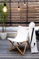 ハンモック チェアー(ホワイト)/ 洗濯OK 折りたたみ 椅子 いす リビング キャンプ キャンパー