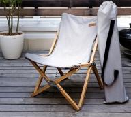 ハンモック チェアー(ライトグレー)/ 洗濯OK 折り畳み椅子 いす リビング キャンプ キャンパー
