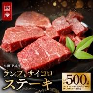 010B330 氷温(R)熟成牛 ランプステーキセット(合計500g)