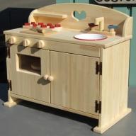 099H088 手作り木製 ままごとキッチンDHK
