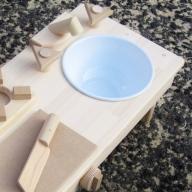 099H176 手作り木製 ままごとキッチン・RHK-LX 素材色バージョン
