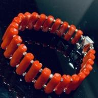 KN028【数量限定】血赤珊瑚 ブレスレット【室戸産宝石サンゴ】