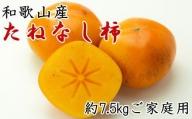 【秋の味覚】和歌山産のたねなし柿ご家庭用約7.5kgサイズ混合※9月下旬から順次発送