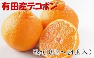 【お味濃厚】紀州有田産のデコポン約5kg(18玉~24玉入り・青秀以上) ※2022年2月上旬より順次発送