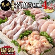 宮崎県産若鶏 5種盛4kgセット_AA-G302