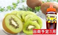 1月 キウイフルーツ約2kgハチミツ300g 【山形県産】