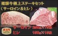 飛騨牛極上ステーキセット(サーロイン&ヒレ)